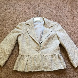 Pale blue twill blazer